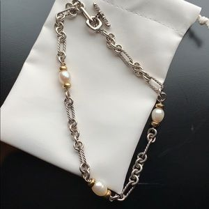 SOLD Authentic David Yurman pearl necklace